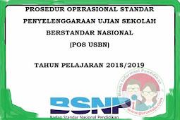 POS USBN 2019 Tahun Pelajaran 2018/2019 SD SMP SMA SMK