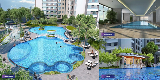 Nhiều bể bơi trong nhà và ngoài trời tại Goldmark City