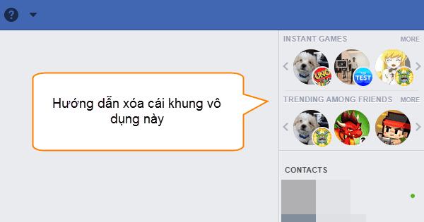 Cách loại bỏ khung thông tin game khỏi Sidebar Facebook