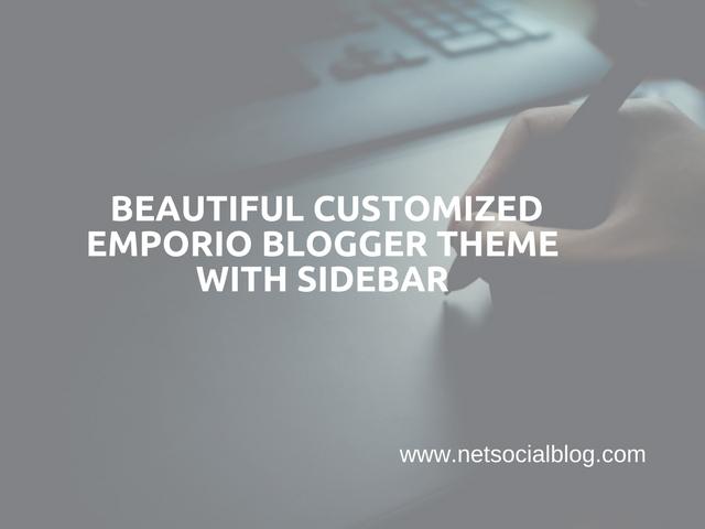 Custom Emporio Blogger Theme With Sidebar, Social Buttons ...