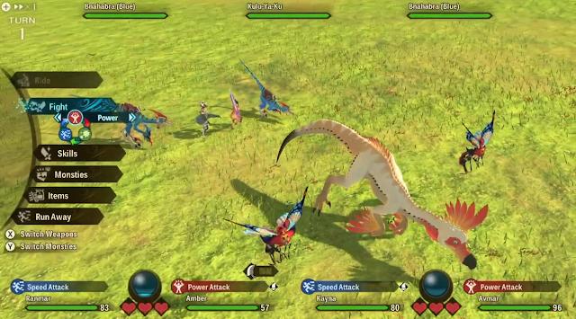back attack combat Bnahabra Kulu-Ya-Ku Monster Hunter Stories 2 Nintendo Treehouse Live E3 2021