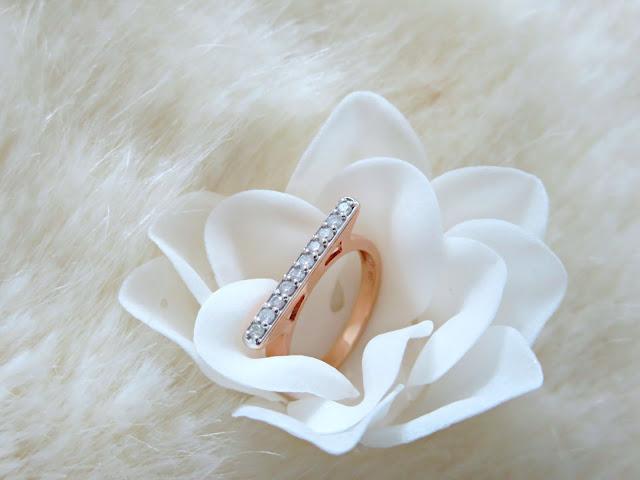Gemporia Bridge Collection Mini Rose Gold Diamond Stacking Ring