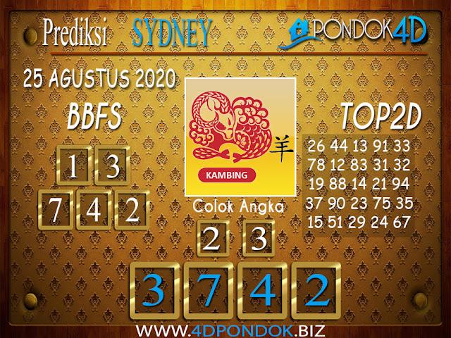 Prediksi Togel SYDNEY PONDOK4D 25 AGUSTUS 2020
