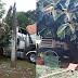 Carreta desgovernada atinge poste em Bossoroca