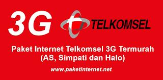 harga paket internet telkomsel 3G