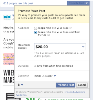 Posting yang Dipromosikan Facebook