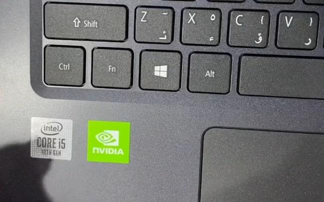 Fingerprints show up on the smooth matte plastic finish of Acer Aspire 3 A315-57G laptop.