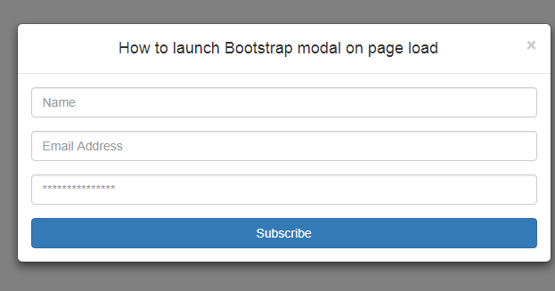 How to Launch Bootstrap Modal on page load