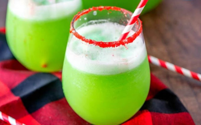 Easy Grinch Punch #drinks #nonalcoholic