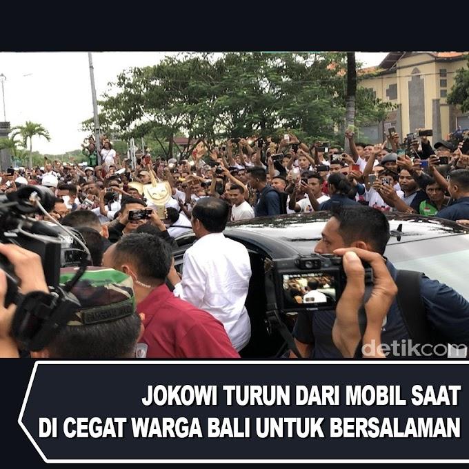 Jokowi Turun Dari Mobil Saat di Cegat Warga Bali untuk Bersalaman