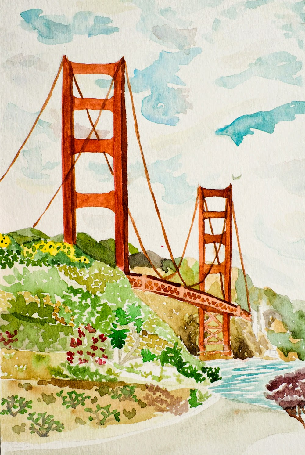 The Art Of A Roy Greenfeld Golden Gate Bridge Ii Diagram When I First Sat Down Thought Was Going To Paint For Half An Hour Then Power Walk Across And Back That Didnt Happen