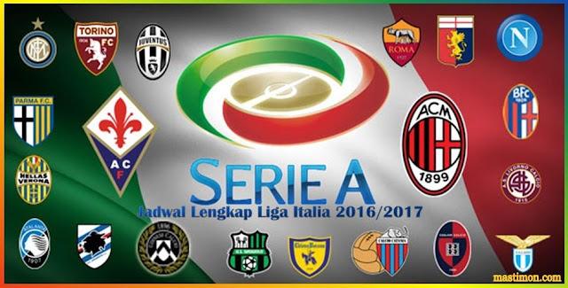 Jadwal Liga Italia serie A 2016-2017 lengkap dengan Klasemen sementara