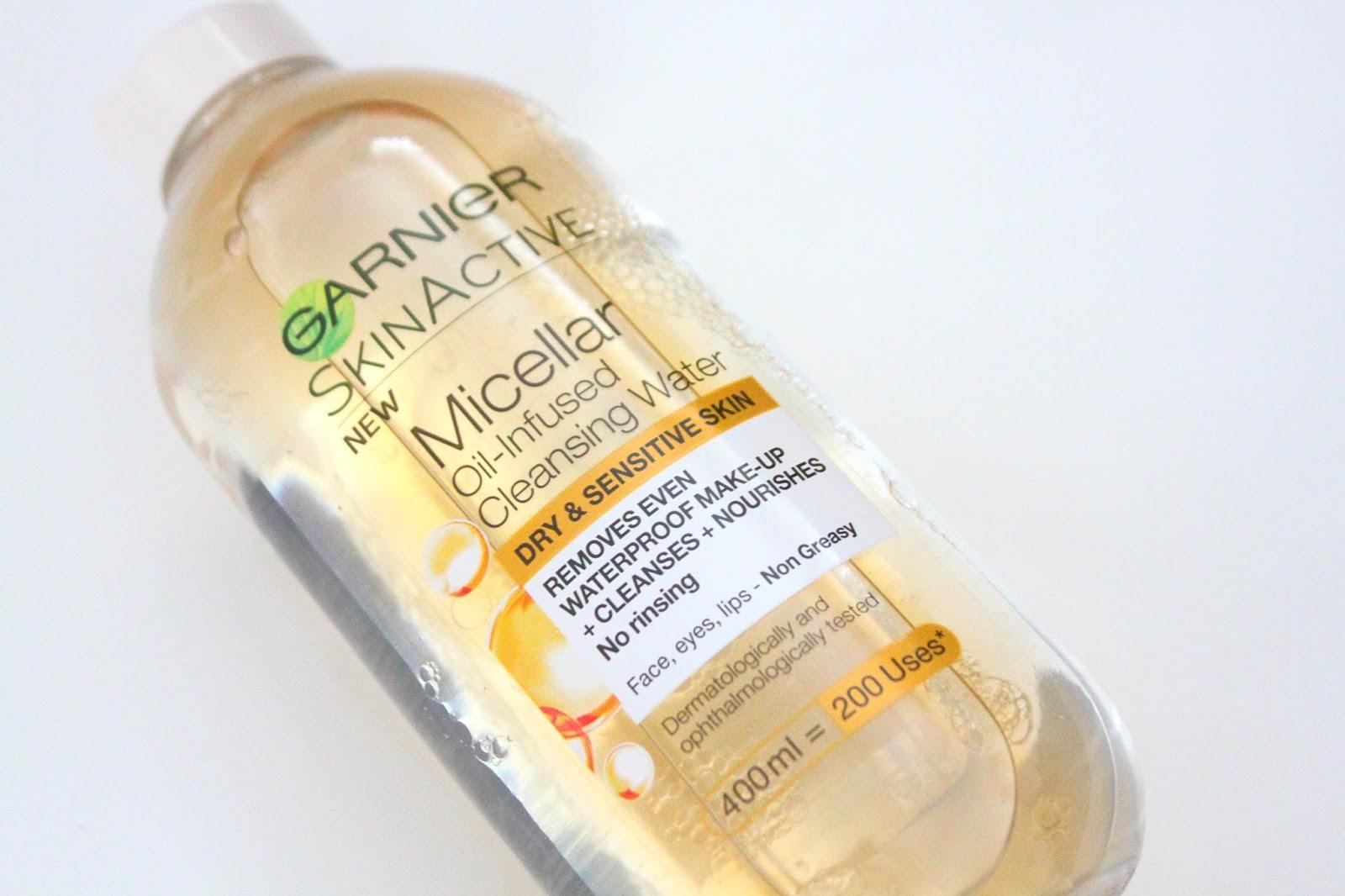garnier micellar water oil infused dry sensitive skin review