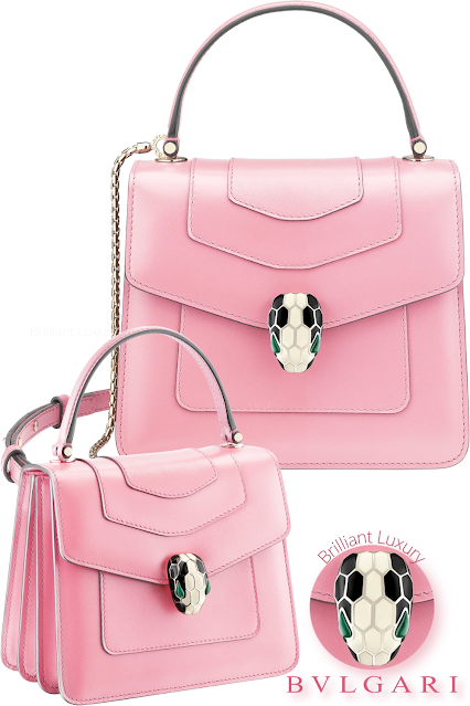 Bvlgari Serpenti Forever crossbody bag in flamingo quartz calf leather #brilliantluxury