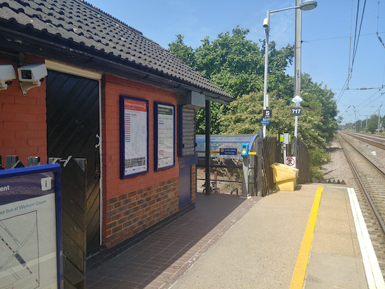 Welham Green station - November 2019Image by North Mymms News released via Creative Commons BY-NC-SA 4.0