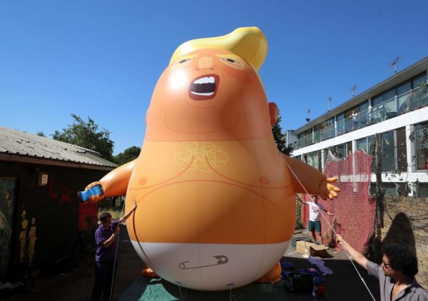 Giant 'Trump Baby' Balloon set to be Flown in London during Trump's Visit