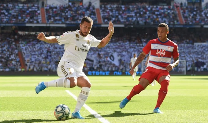 Hazard send warning as he scored his first goal in Real Madrid