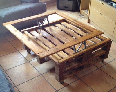 Coffee table with pallets