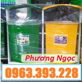 Thùng rác nhựa treo đôi 80L, thùng rác nhựa composite, thùng rác công cộng, thùn Cung-cap-thung-rac-nhua-treo-doi-80l_result