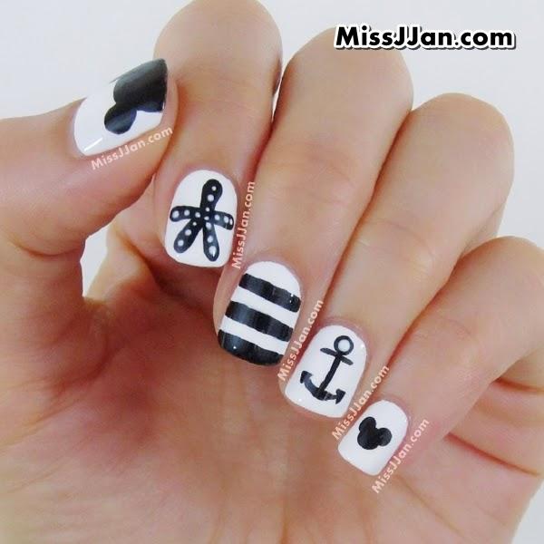 Nail Art Tutorial Nautical Nail Art Using Cuccio: MissJJan's Beauty Blog ♥: {Manicure Monday} Tutorial