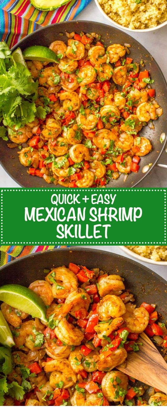 Easy Mexican Shrimp Skillet