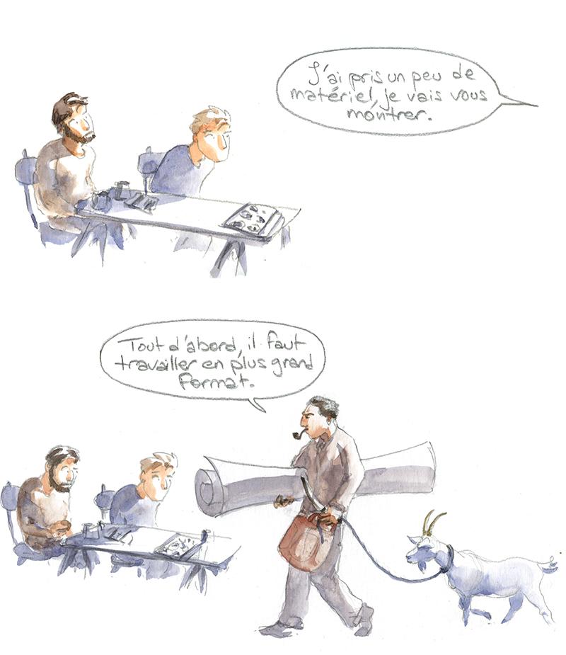 Giono peintre, chèvre