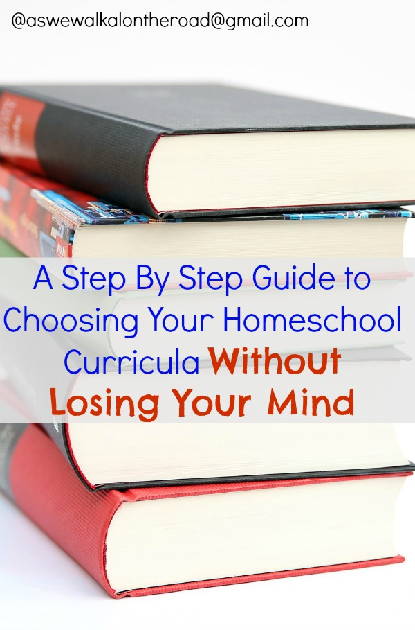 Steps to choosing homeschool curricula