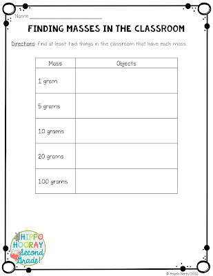 Finding Mass Worksheet *Freebie*