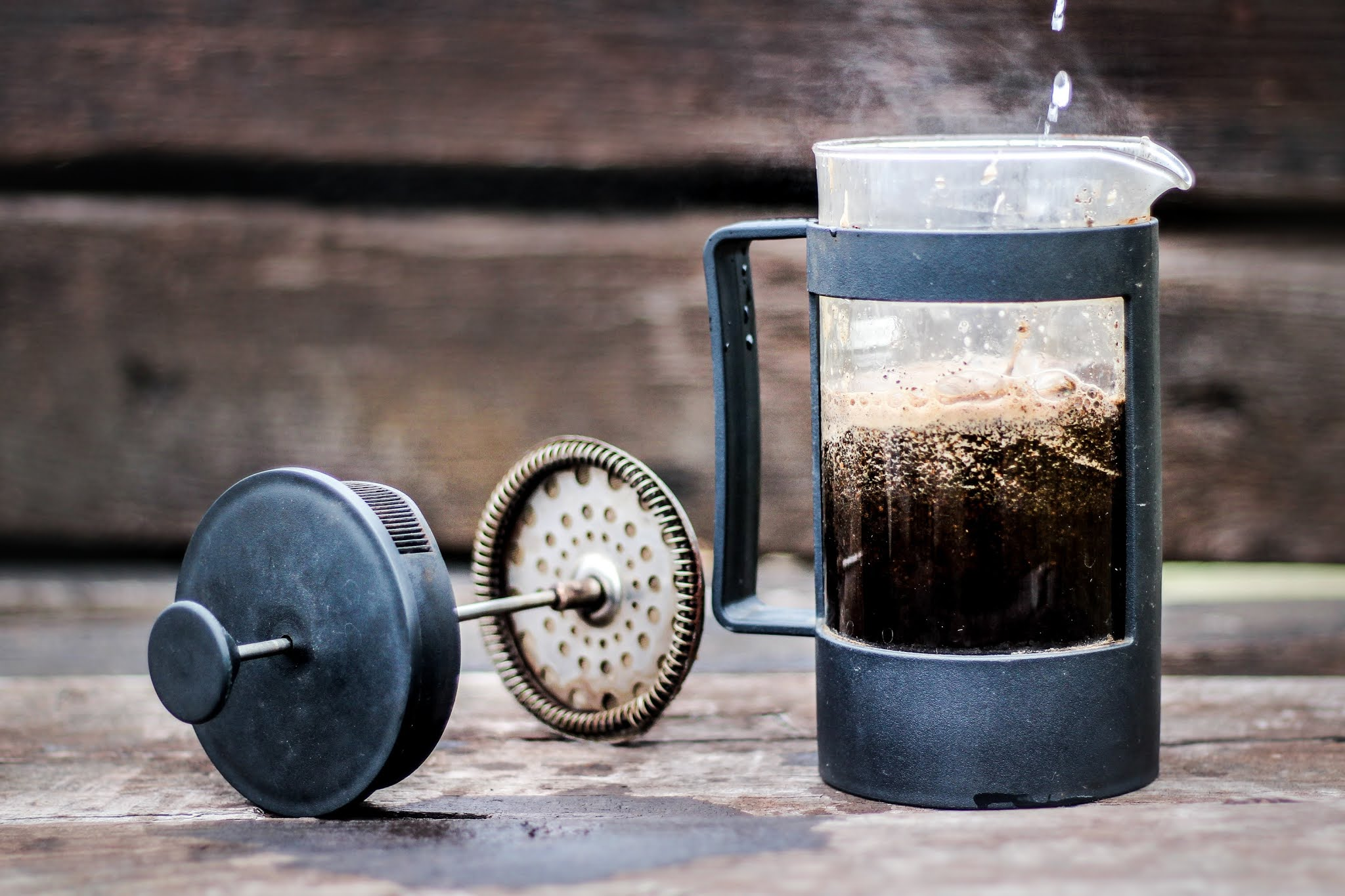 French-press coffee