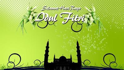 Gambar Ucapan Selamat Idul Fitri Mohon Maaf Lahir Batin Masjid