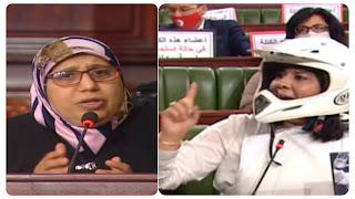 يمينة الزغلامي : تهاجم عبير موسي بقوة..... انت عار و نموذج سئ للمرأة تونسية... و أنت مثال سيء للأجيال... و.... و... ؟