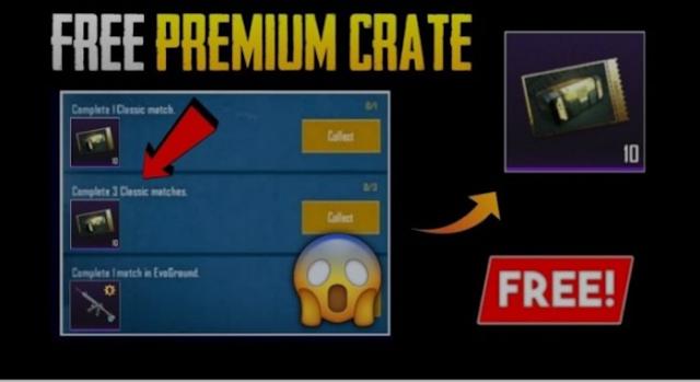 Cara mendapatkan Premium Crate dengan Bukti Gratis di PUBG Mobile 2