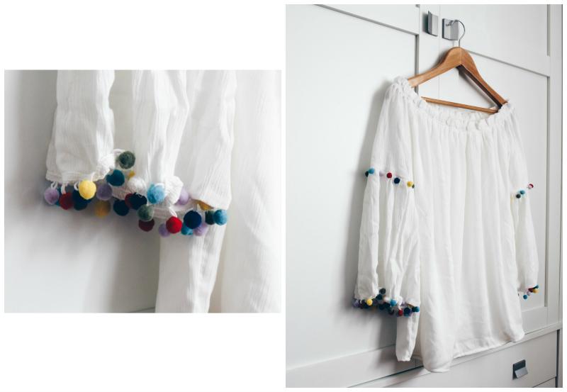 blusa con pompones blog de moda