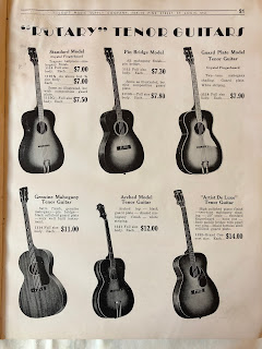 Rotary tenor guitars