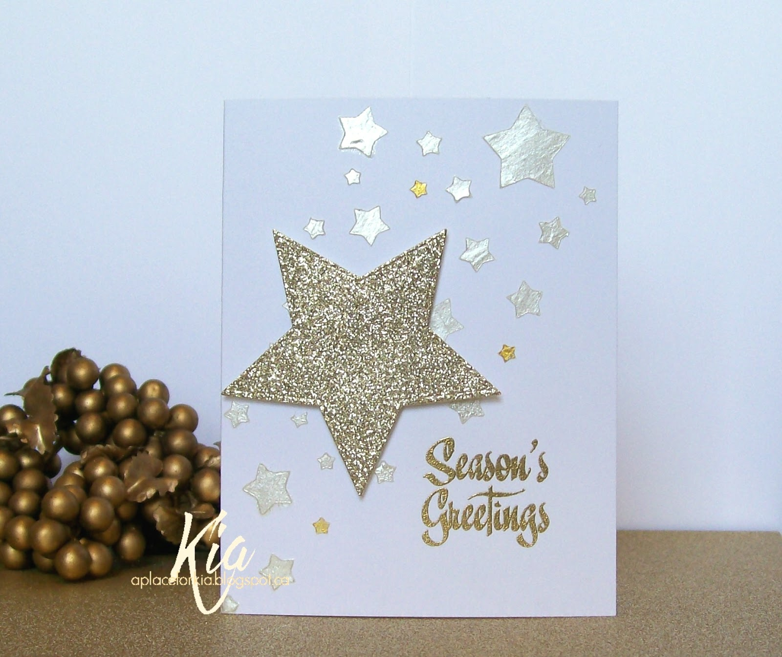 A place for kia star greetings i continue to work on my christmas cards and am very happy with the way this card turned out i think it is the sparkle i like so much kristyandbryce Images