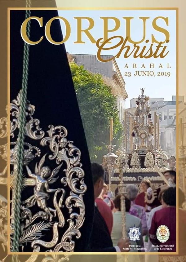 Cartel de la Procesión del Corpus Christi de la Parroquia de Santa María Magdalena de Arahal