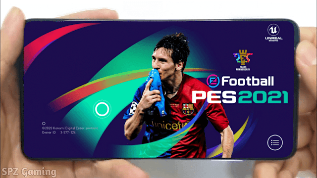 PES 2021 Mobile Patch V5.0.1 Android Best Graphics New Menu Full Original Logo and Kits 2021 Update
