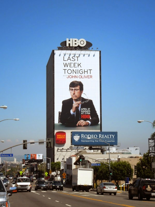 Giant Last Week Tonight John Oliver HBO billboard Sunset Strip