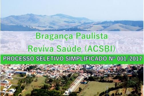 Processo Seletivo Bragança Paulista - Reviva Saúde (ACSBI)