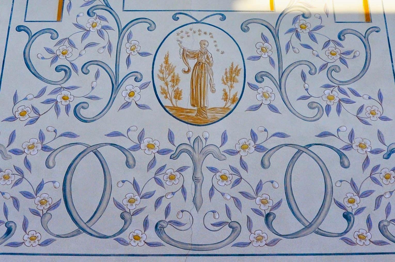 painted facade house Cittadella Italy
