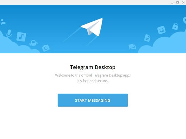 Welcome screen Telegram