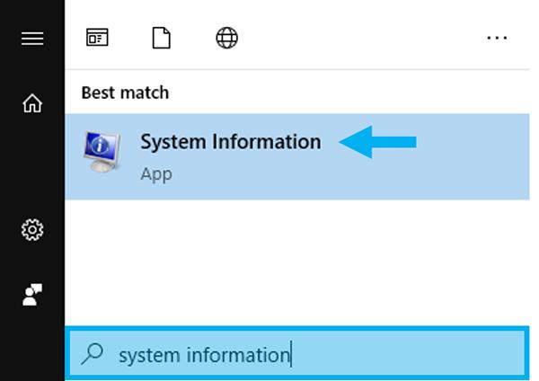 Membuka System Information