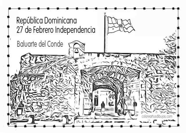 Día 27 de Febrero Independencia de la República Dominicana para pintar