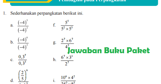 S pangkat 2 per s pangkat 4 × s pangkat 9 per s pangkat 3 = s. Bocoran Kunci Jawaban Buku Paket Halaman 30 31 32 Kelas 9 Matematika Latihan 1 3 Pembagian Pada Perpangkatan