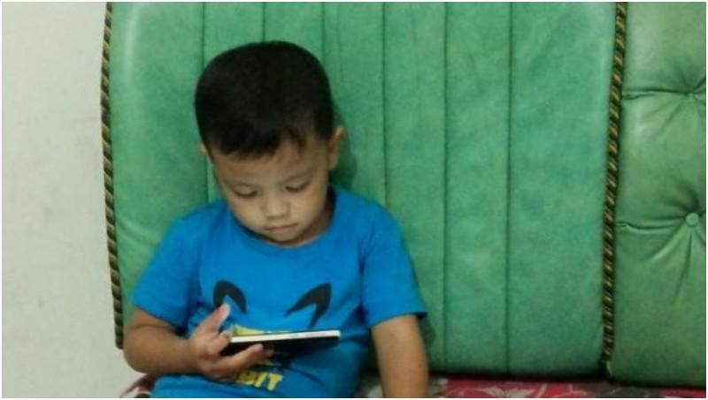 Muhammad Azka (4), bocah yang tersunat dengan sendirinya di Cipete