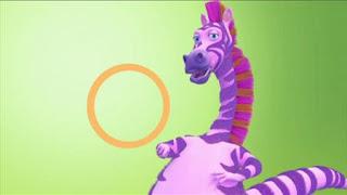 Ziggy the Zebrasaurus raps about shapes. Sesame Street Episode 4416 Baby Bear's New Sitter season 44