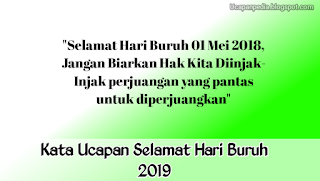 Kata Mutiara Selamat Hari Buruh 2019