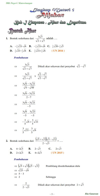 Soal Dan Pembahasan Un Matematika Sma Pdf