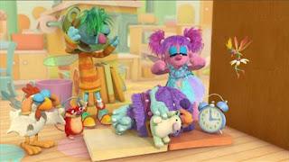 Abby's Flying Fairy School Sleeping Blöggy, Abby Cadabby, Blögg, Gonnigan, Mrs. Sparklenose, Sesame Street Episode 4407 Still Life With Cookie season 44