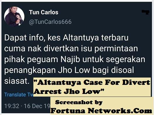 Altantuya Case For Divert Arrest Jho Low